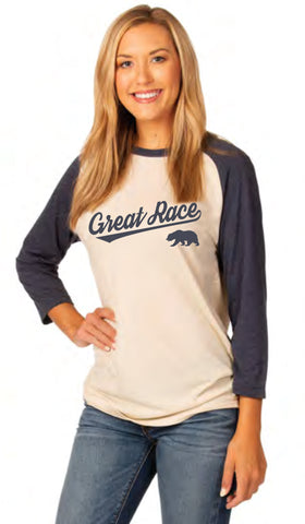 Baseball Tee Super Soft Tri-Blend - Unisex - Navy Heather