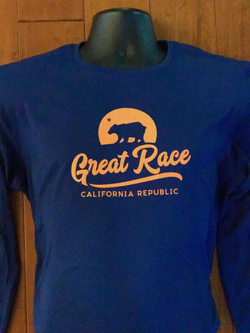 Men's Cobalt Blue Long Sleeve Running Tech Tee
