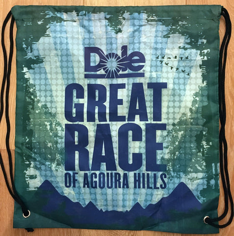 Great Race Drawstring Backpack - Mountain scene
