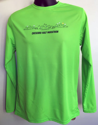Chesebro Half Men's Neon Green Visible Long Sleeve Tech Tee
