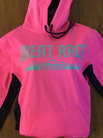 Women's Pink Great Race Hoodie