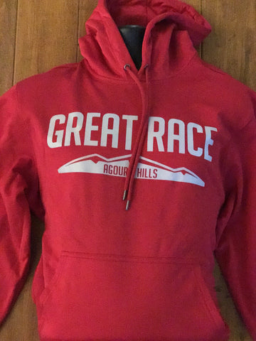 Deep Red Great Race Mountain Hoodie