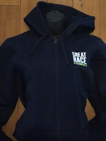 Women's Fleece Blue Hooded Jacket (XL only)
