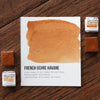 French Ochre Havane Watercolor Half Pan - RedwoodWillow Handmade Watercolors