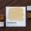 French Ochre Light Watercolor Half Pan - RedwoodWillow Handmade Watercolors