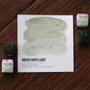 Green Earth Light Watercolor Half Pan - RedwoodWillow Handmade Watercolors