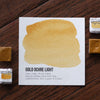 Gold Ochre Light Watercolor Half Pan - RedwoodWillow Handmade Watercolors