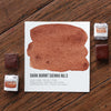 Dark Burnt Sienna No.3 Watercolor Half Pan - RedwoodWillow Handmade Watercolors