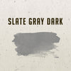 Slate Gray Dark Watercolor Half Pan - RedwoodWillow Handmade Watercolors