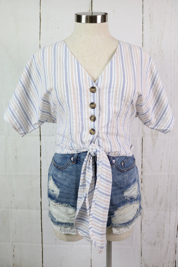 ~This super cute top was boho inspired and perfect for this summer  ~Fabric: Cotton ~Buttons