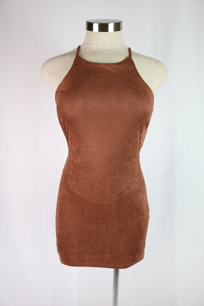 Mandy Suede Dress (Brown)
