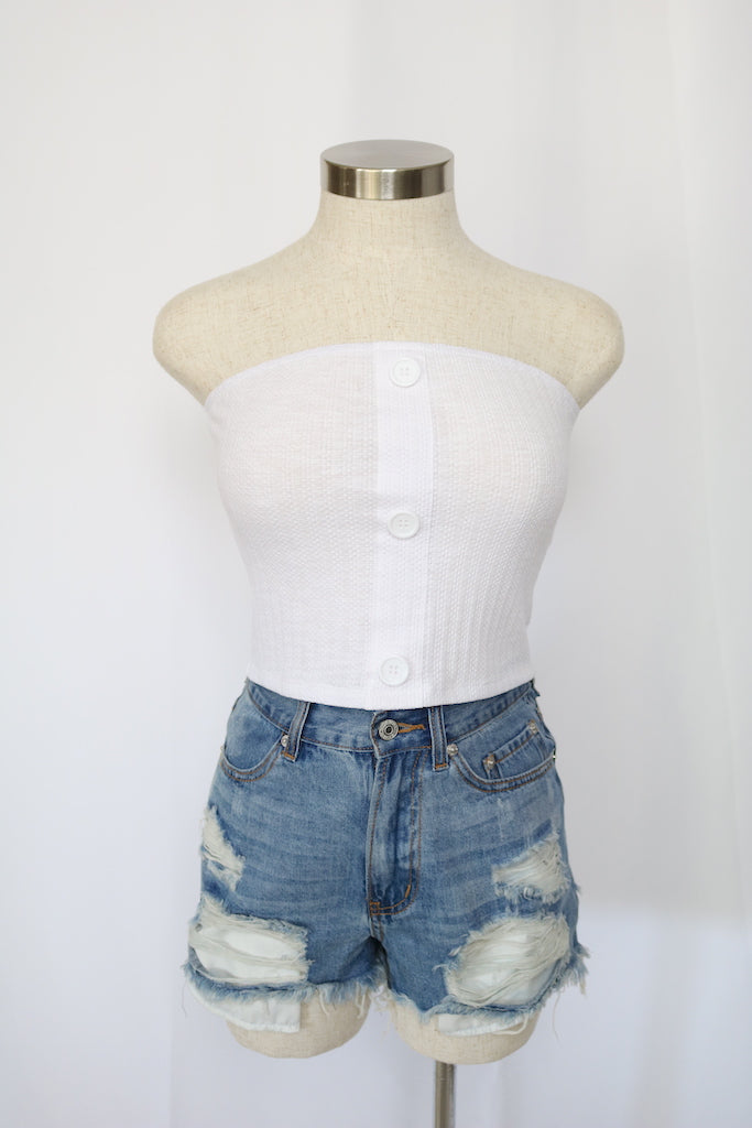 Marie Tube Top (White)