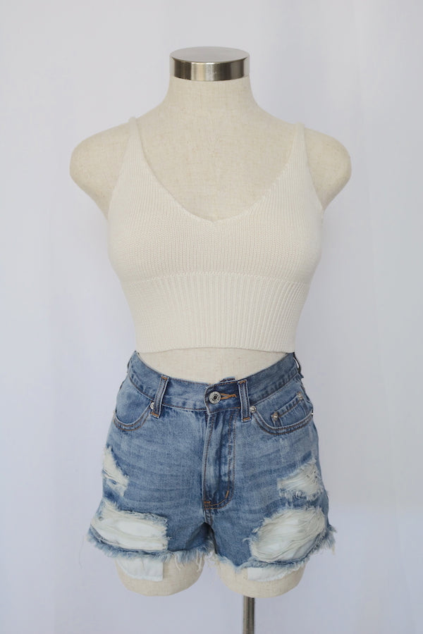 Allie Knit Top (Ivory)