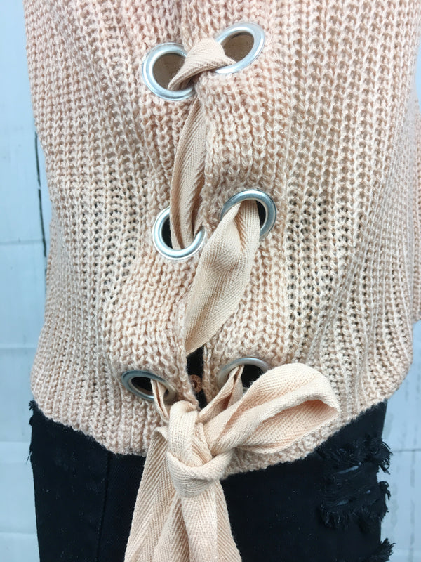 Lyla Lace-up Sweater