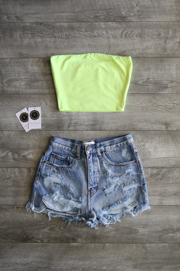 Shelby Tube Top (Neon Green)