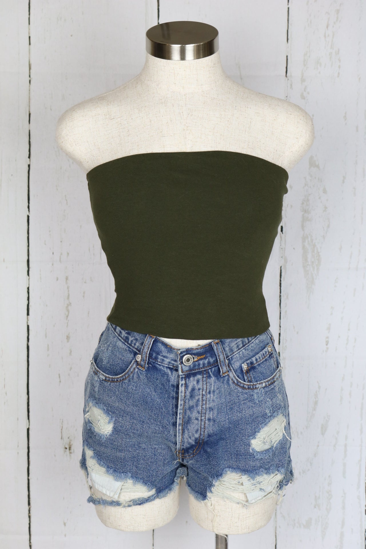 Shelby Tube Top (Olive)