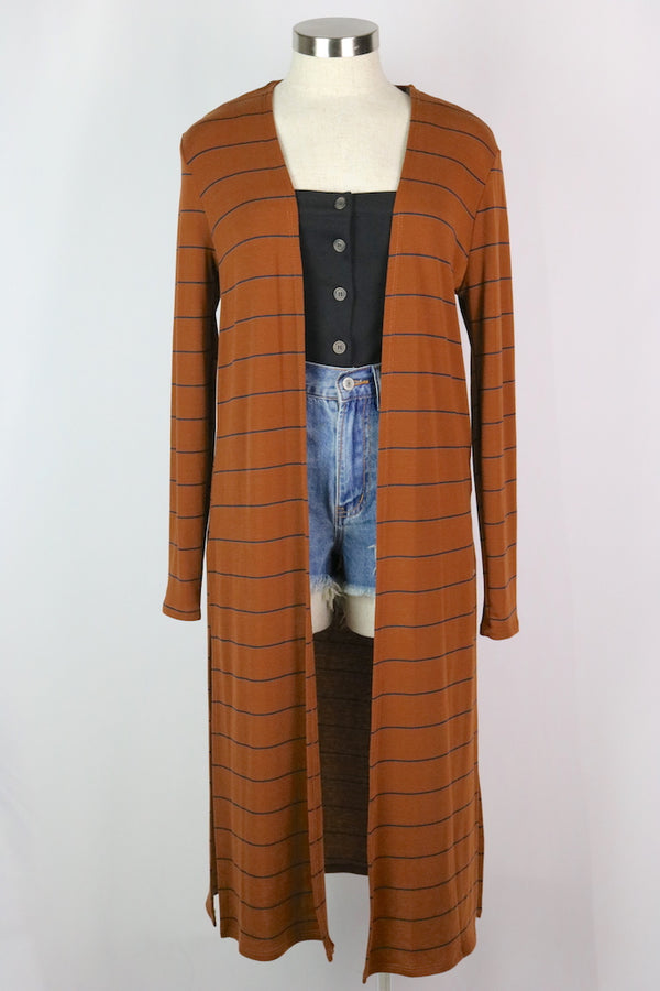~Stripe detail  ~Color: rust ~Fabric: cotton/polyester