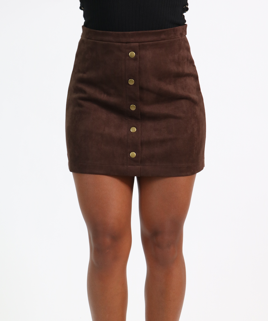 Lovelle Suede Skirt