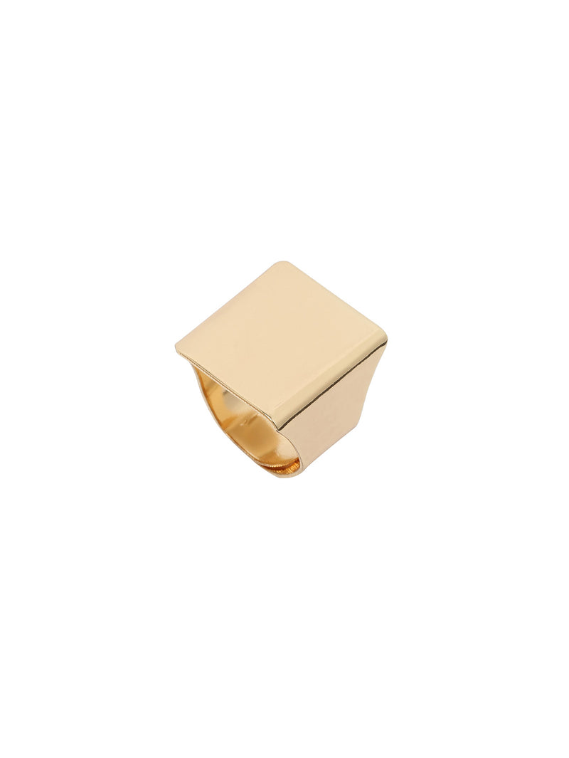 Gold Punk Square Ring