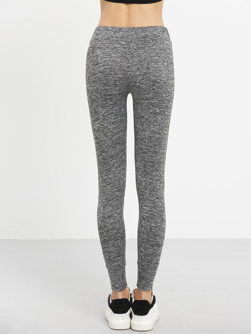 Dark Grey Tie Waist Sports Pants