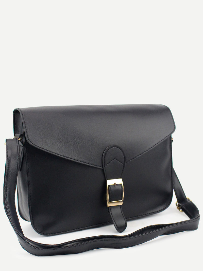 Buckle Strap Closure Envelope Crossbody Bag