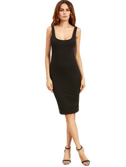 Double Scoop Ribbed Dress