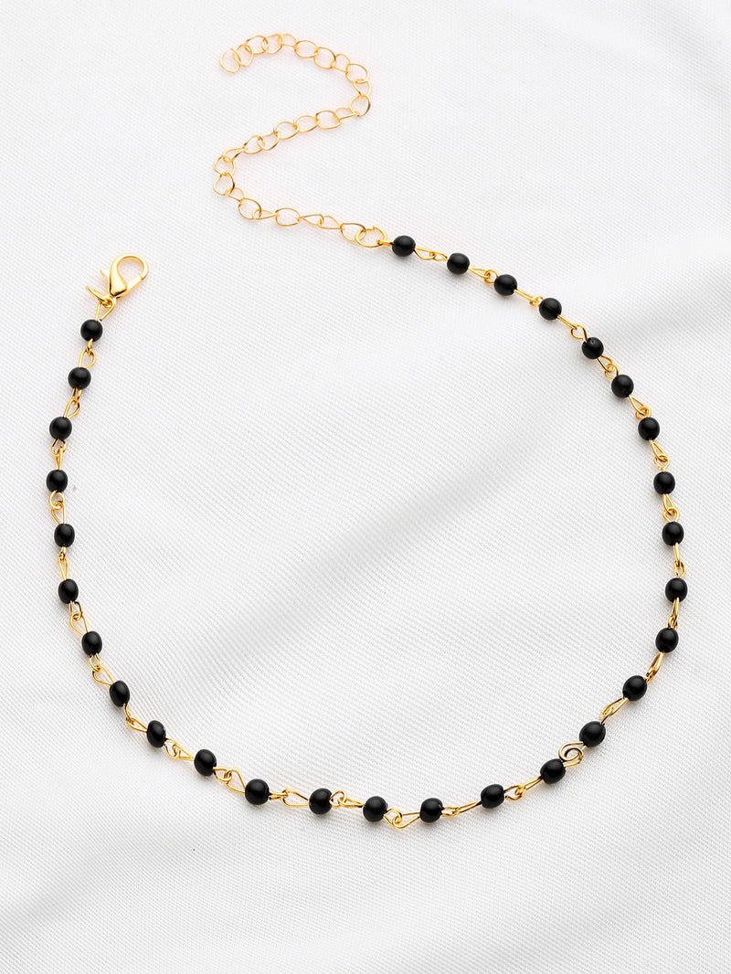 Contrast Beaded Delicate Necklace