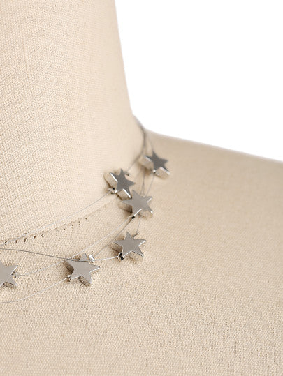 Star Design Layered Necklace