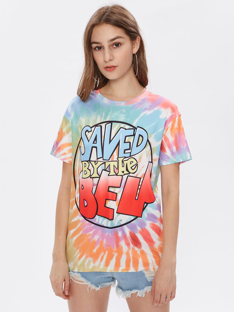 Drop Shoulder Tie Dye Graphic Tee