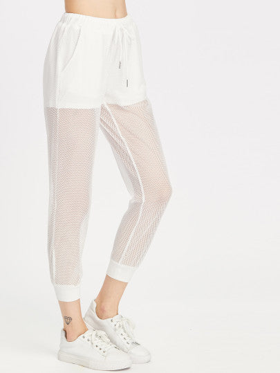 2 In 1 Fishnet Sweatpants