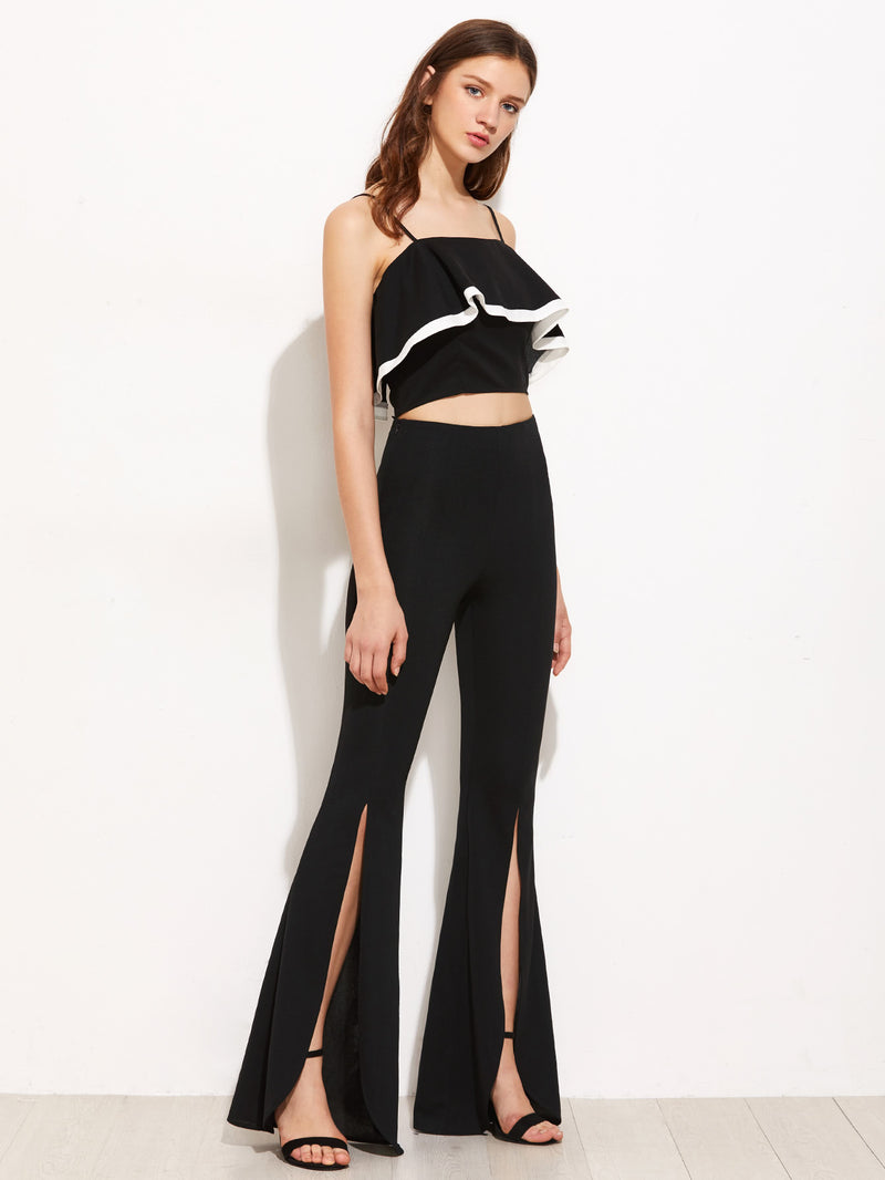 Split Front Flared Pants