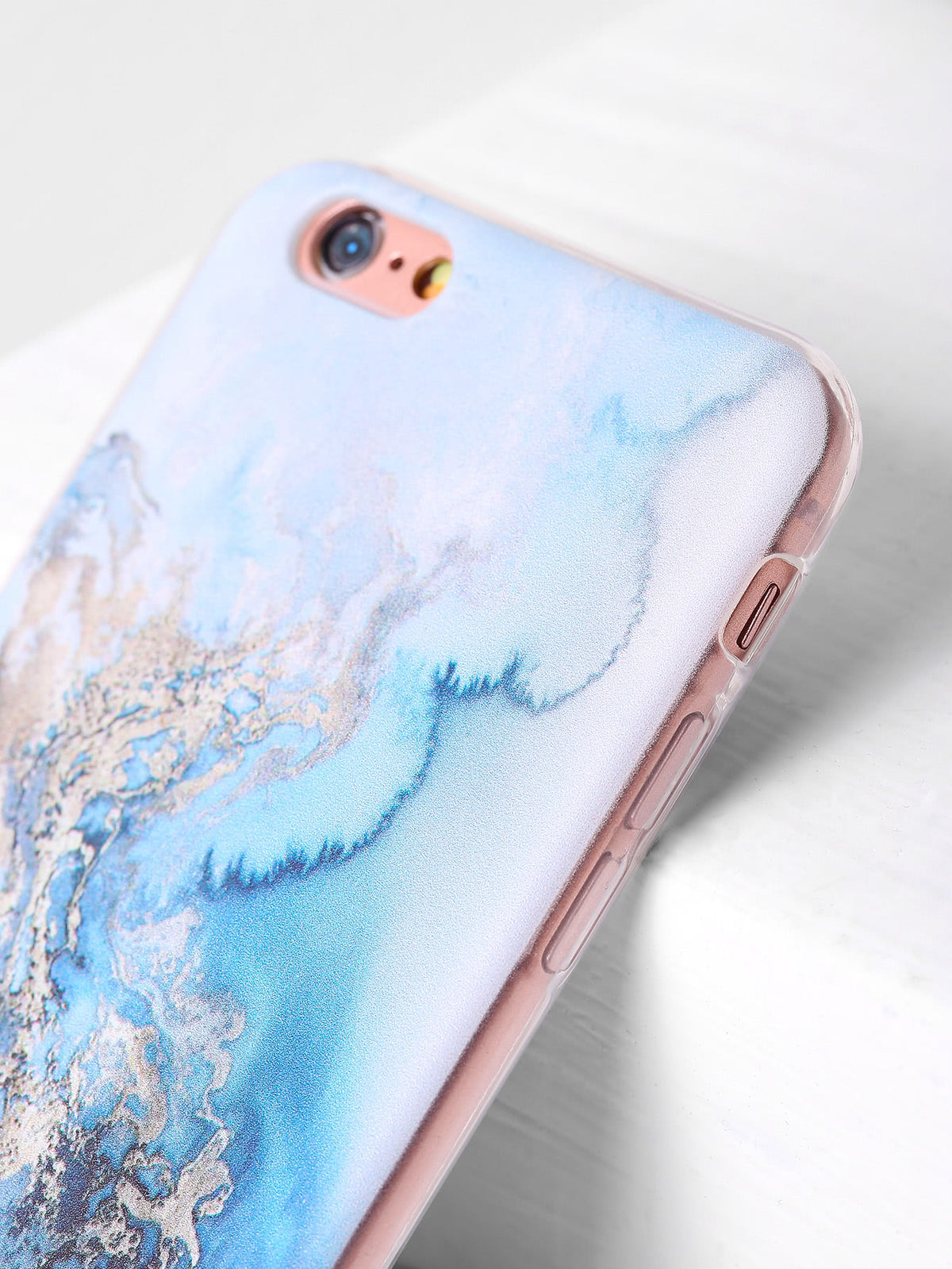Blue Marble Print iPhone Case