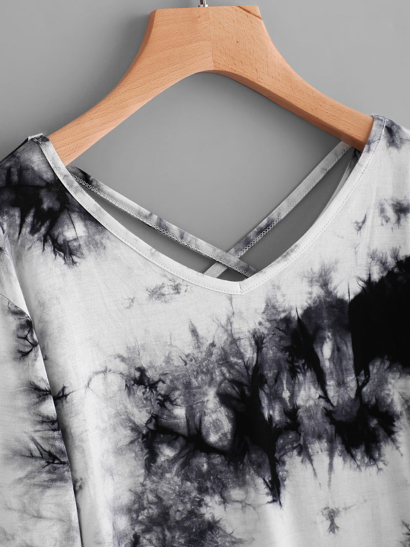 Water Color Criss Cross Back Tee