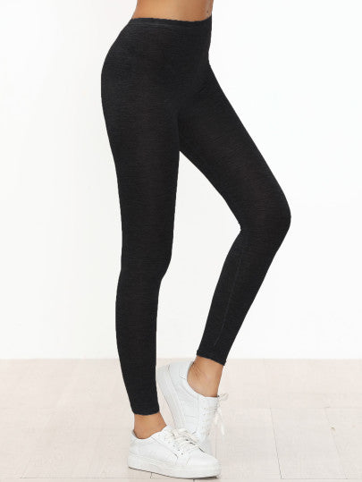Black Skinny Casual Leggings