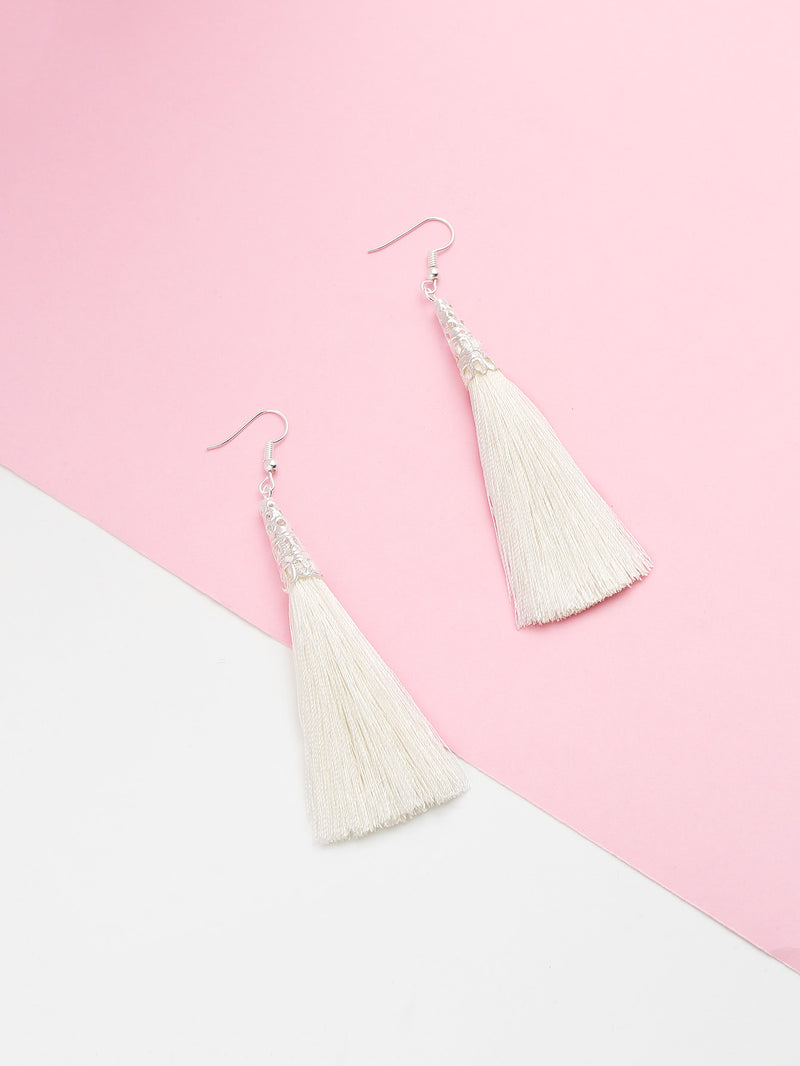 Long Tassel Hook Earrings