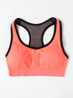 Racerback Cut Out Sports Bra