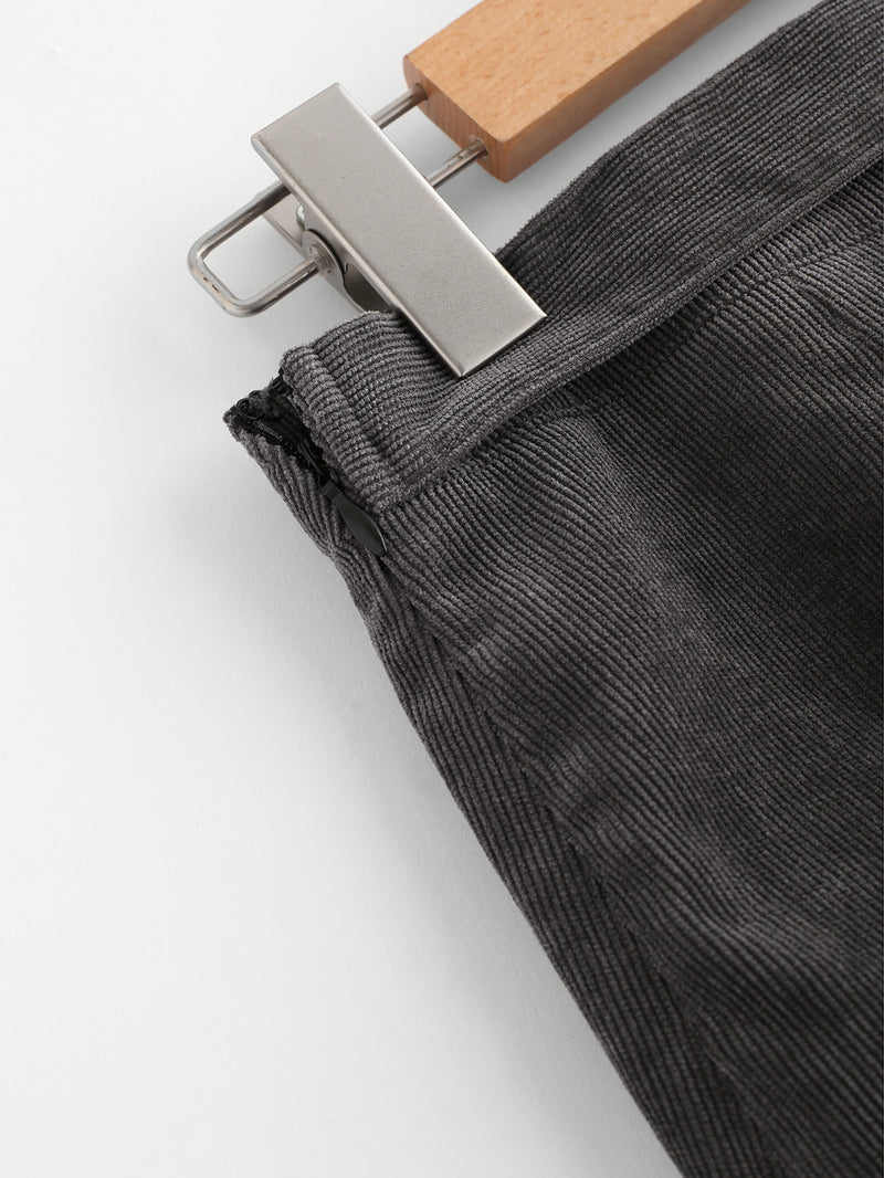 O-Ring Belt Detail Cord Wrap Skirt