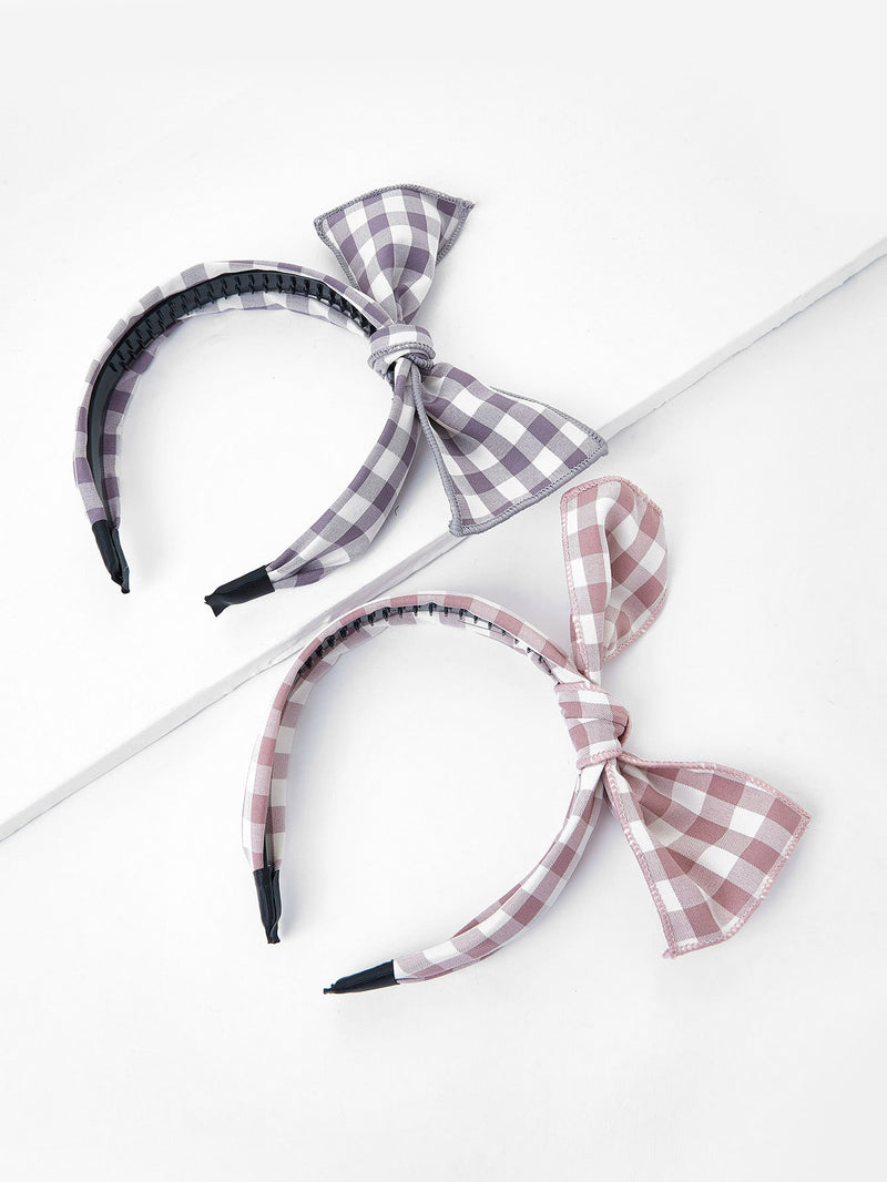 Bow Tie Headband 2pcs