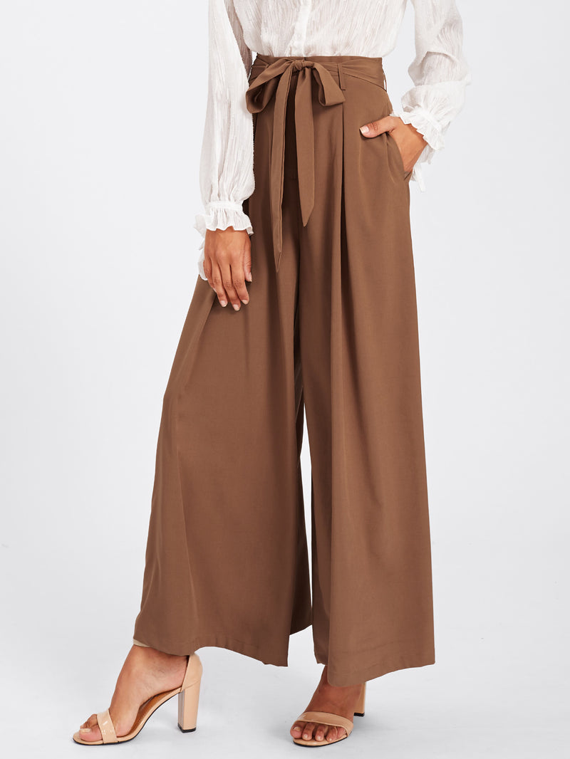 Self Belted Skirt Palazzo Pants