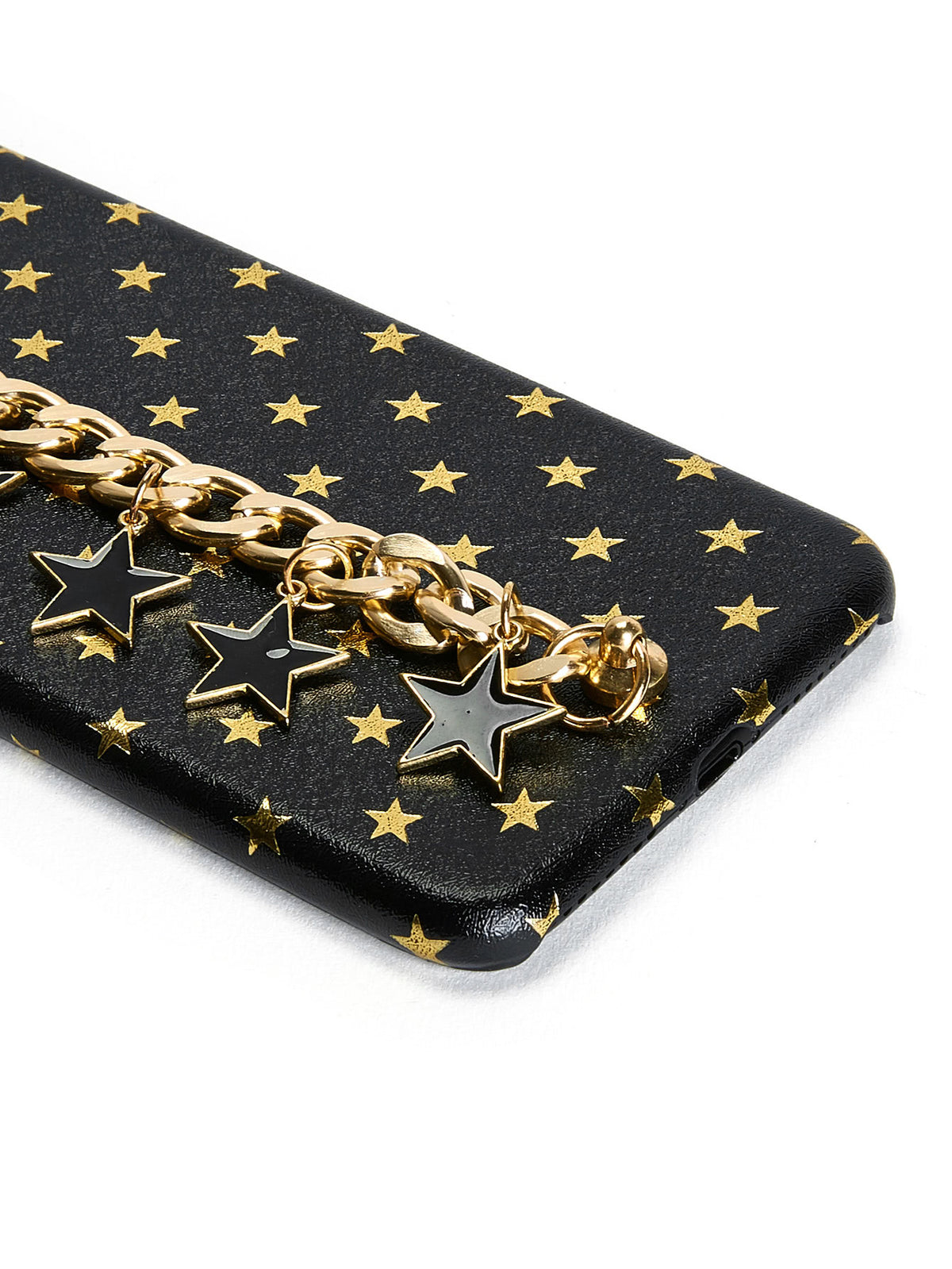 Star Print iPhone Case With Chain