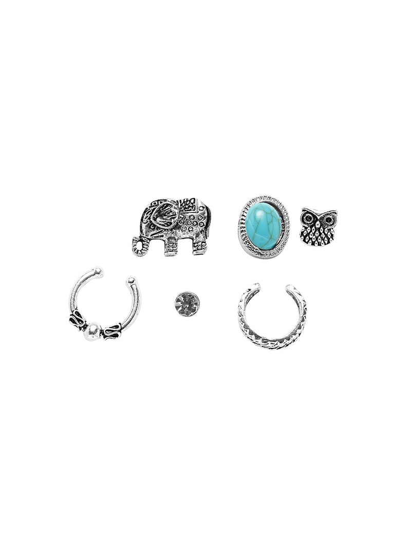 Mixed Stud Earring 6pcs