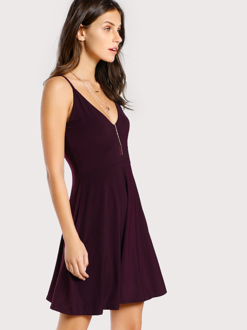 Double V Neck Cami Dress