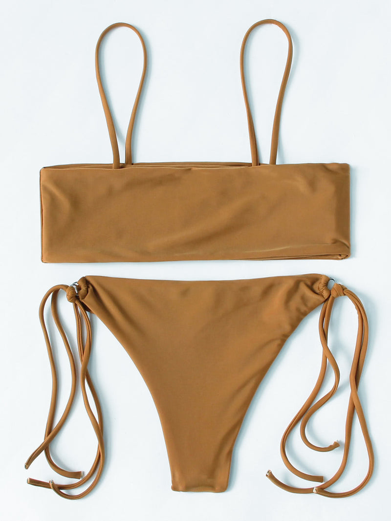 Ring Detail Strappy Bikini Set