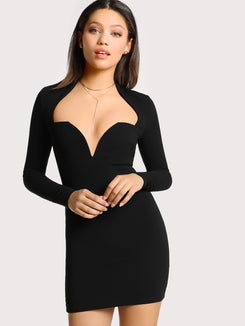 Form Fitting Sweetheart Dress