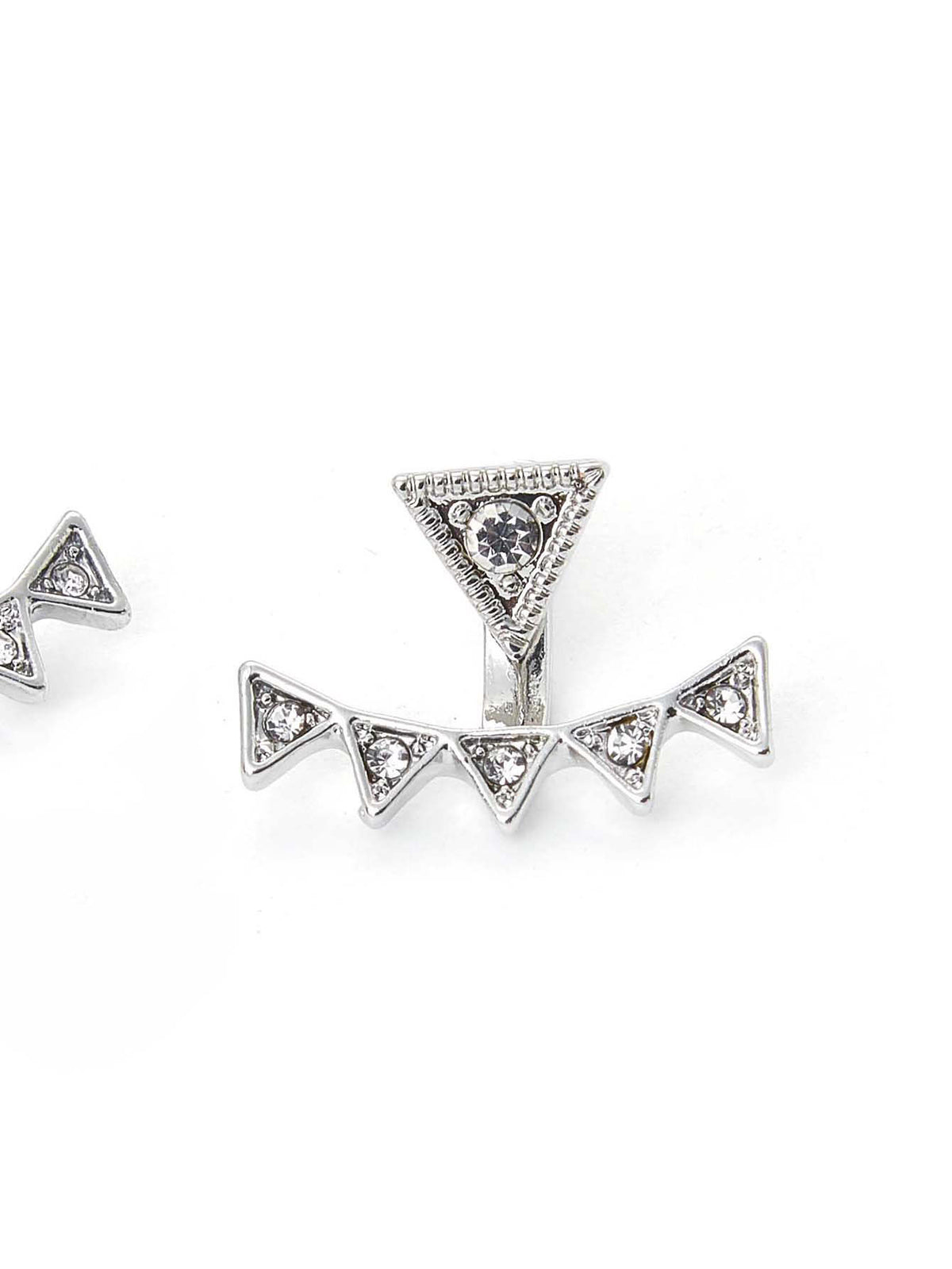 Rhinestone Triangle Design Ear Jacket