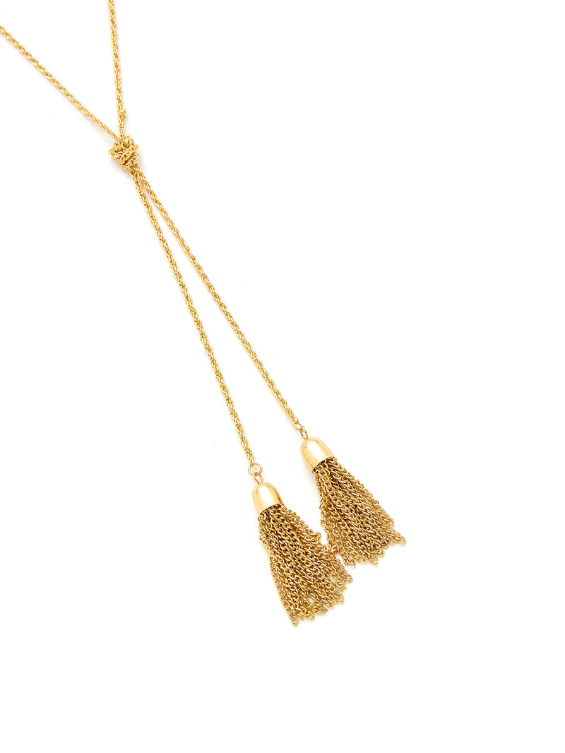 Chain Tassel Wrap Necklace