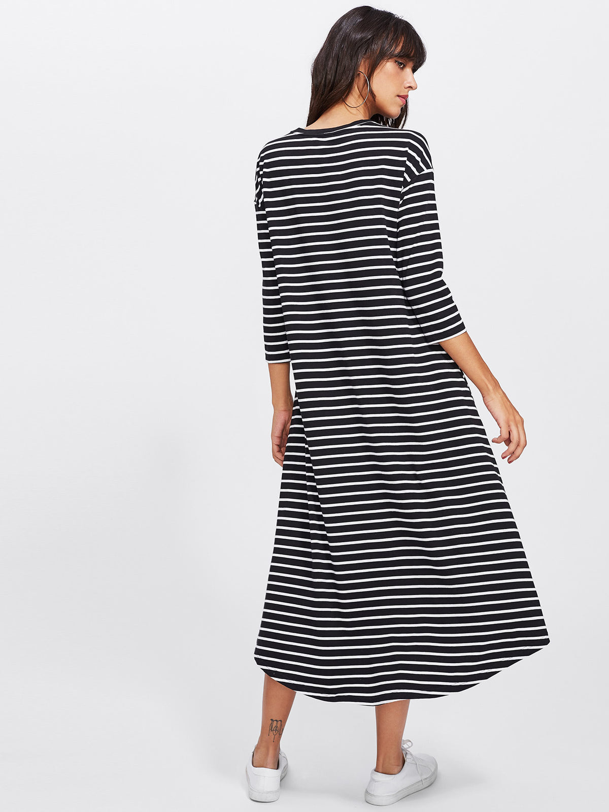 Striped Swing Tee Dress