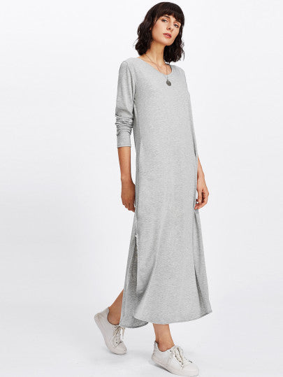 Split Side Longline Dress