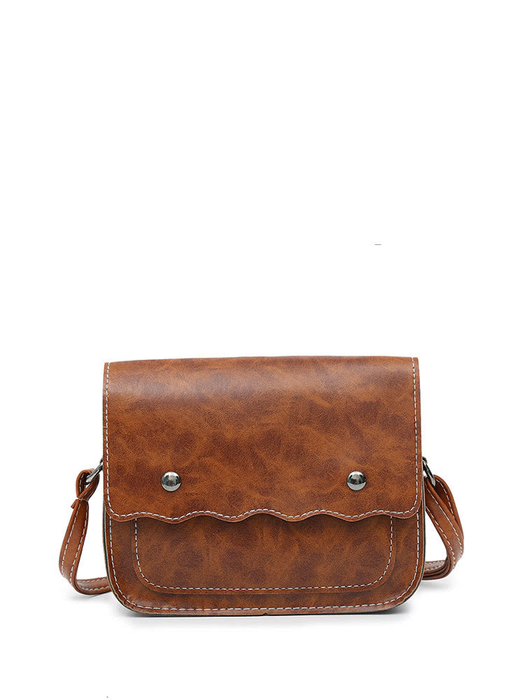 PU Flap Shoulder Bag