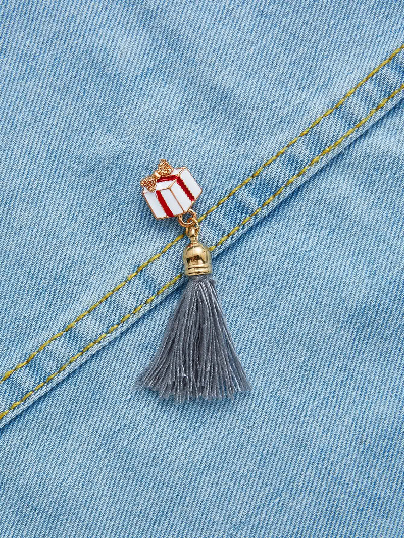 Christmas Tassel Design Brooch